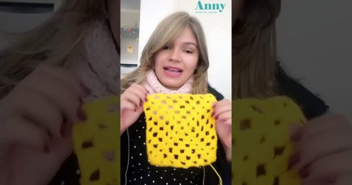 Quadradinho de Crochê Básico - Granny Square Tutorial DIY
