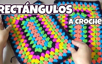RECTÁNGULO tejido a crochet paso a paso - para Colchas y tapetes