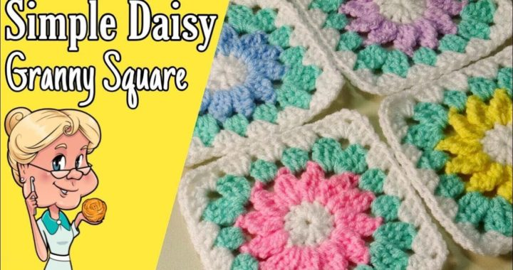 Simple Daisy Granny Square - Crochet Tutorial - FREE PATTERN