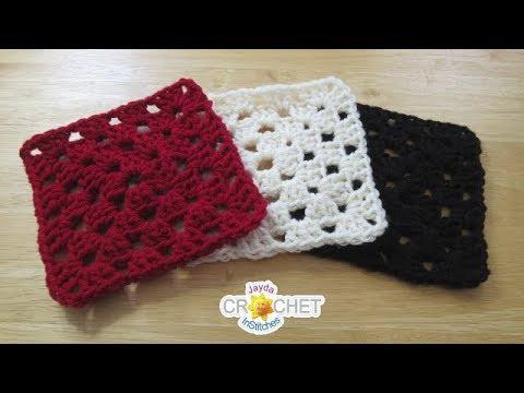 Solid Colour Granny Square Crochet Pattern & Tutorial