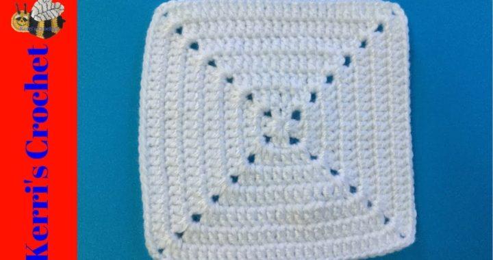 Solid Granny Square Crochet Tutorial - Beginner Crochet Tutorial