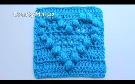 TUTORIAL CUADRO A CROCHET CON CORAZÓN EN PUNTO PUFF | Crochet Granny Square Aplicación a crochet