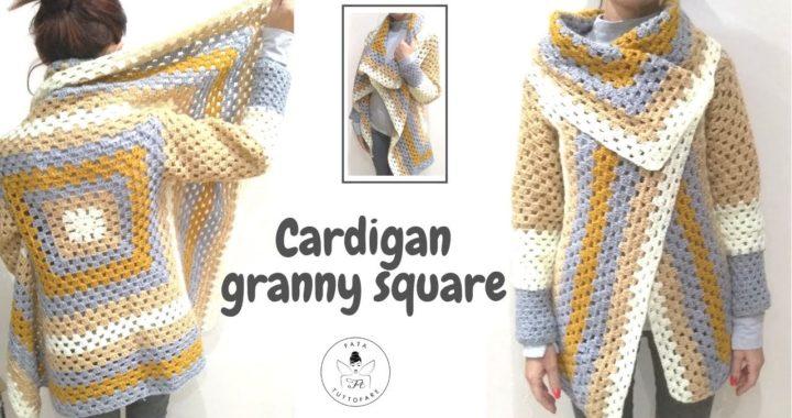 TUTORIAL: Cardigan Granny Square/ punto granny***lafatatuttofare***