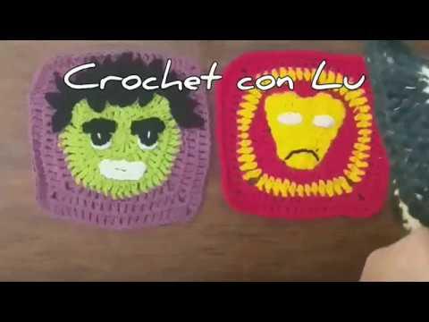Tutorial Crochet ⚡Granny Square Crochet ⚡Superheroes a Crochet⭐diy⚡Manta de grannys