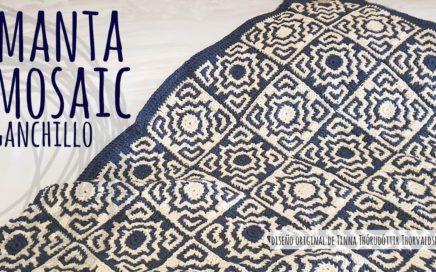 Tutorial Manta Mosaic Eco | Ganchillo - Crochet | Lanas y Ovillos | Diseño de Tinna Thorudottir