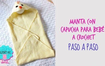 Tutorial manta con capucha a crochet - pollito/ granny square