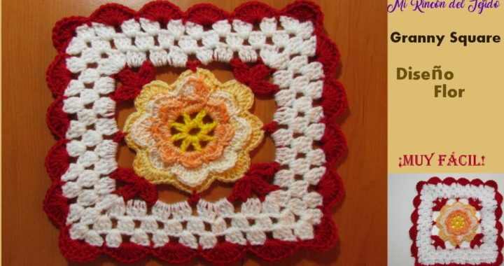 Video tutorial flor granny cuadrada a crochet - Crocheting granny square flower video tutorial