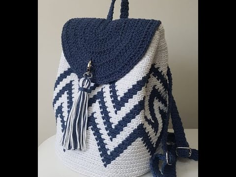 bolso crochet mochila facil  wayuu o trapestry verano 2020 (subtitles several lenguage)