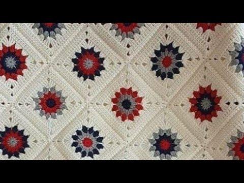 مفرش سرير / بطانية بيبي بوحدات مربعة للمبتدئين / Bed Cover