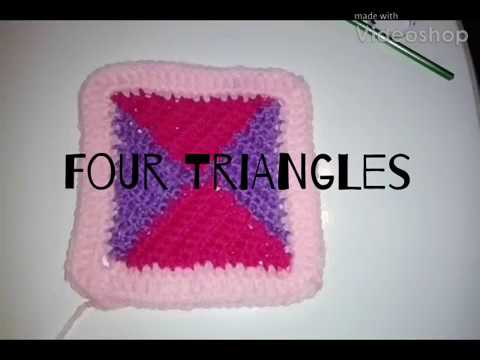 #156 - Four Triangles - 2018 Granny Square CAL