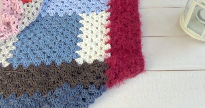 1º Parte manta de ganchillo fácil sin coser/manta de verdad crochet