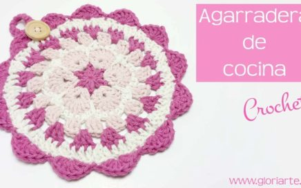 "AGARRADERAS o TAPETE DE COCINA ""MANDALA"" de GANCHILLO. CROCHET MANDALA KITCHEN POT HOLDERS."