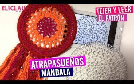 ATRAPASUEÑOS / MANDALAS  en CROCHET + COMO LEER PATRÓN | EliClau