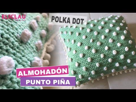Almohadón / Cojín en Crochet Diseño Polka Dot | EliClau