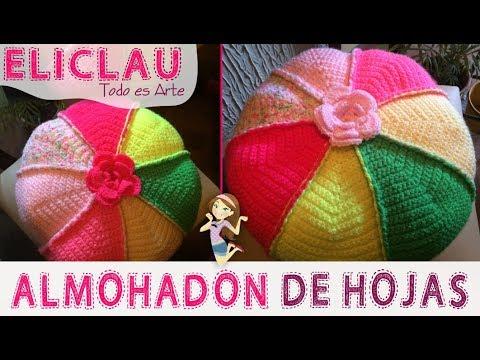 Almohadon Redondo Tejido a Crochet Paso a Paso | EliClau