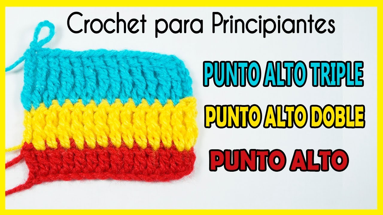 🌈Aprende a tejer: PUNTO ALTO O VARETA (Curso Básico de Crochet para Principiantes)❣