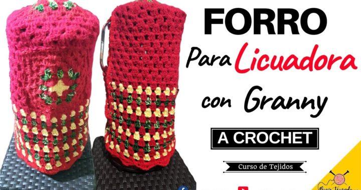 ✅ Aprendiendo a Tejer a Crochet 🌈  Forro Para Licuadora con Granny Fácil y Rápido