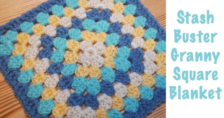 Blossom Crochet: The Super Stash Busting Granny Square Blanket!