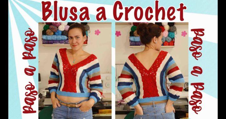 Blusa a Crochet fácil - Paso a paso
