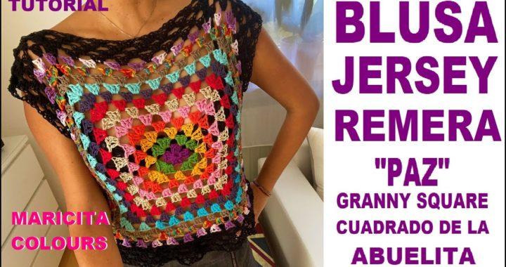 """💕Blusa a Crochet """"PAZ"""" ❤️ESTRENO TUTORIAL 🌻 por Maricita Colours"""