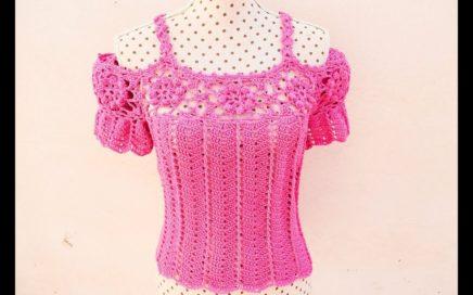 Blusa de mujer a crochet muy fácil y rápida. Majovel crochet