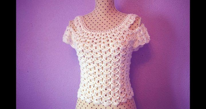 Blusa  de mujer a crochet muy fácil y rápido Majovel crochet
