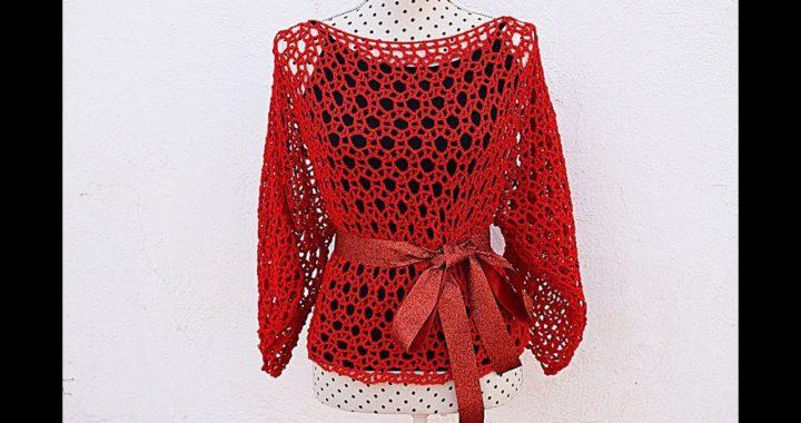 Blusa de mujer  a crochet o ganchillo para fiesta Majovel muy fácil y rápido #crochet #ganchillo