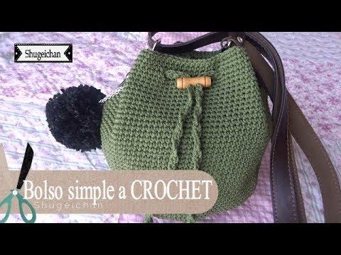Bolso simple y bonito a CROCHET