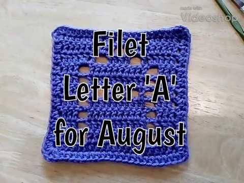 Bonus August - Filet A Square - 2018 Granny Square CAL