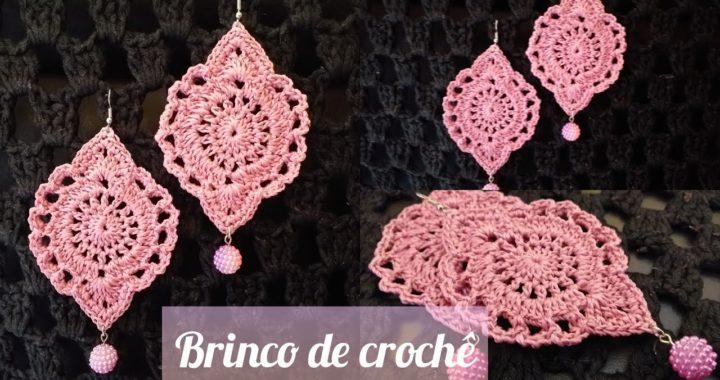 Brinco de crochê, tutorial passo a passo fácil de fazer. #marcialobocroche #diy