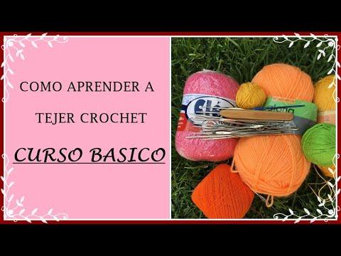 CLASE 1: CADENA 👉 Curso basico para aprender a tejer  crochet