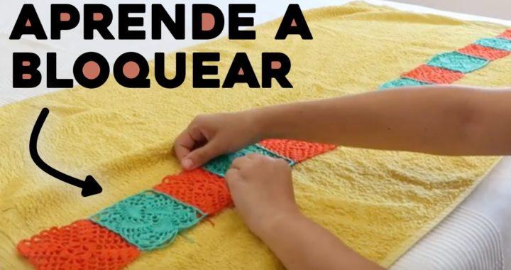 CÓMO BLOQUEAR TEJIDO: aprende a bloquear tejidos a crochet, tutorial paso a paso | Ahuyama Crochet