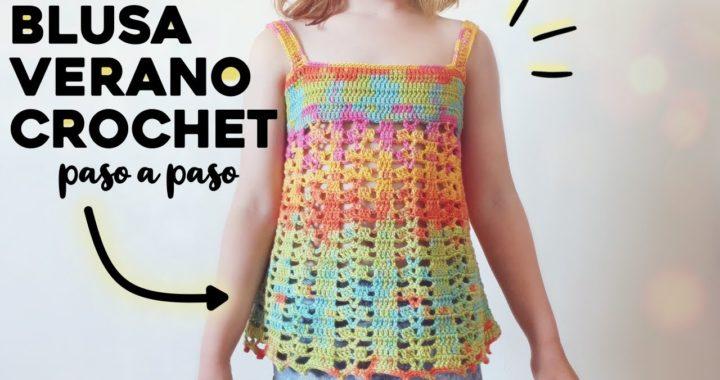 CÓMO TEJER BLUSA DE VERANO A CROCHET: top / túnica / salida de baño a crochet | TUTORIAL PASO A PASO