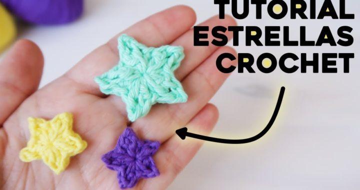 CÓMO TEJER ESTRELLAS A CROCHET: pequeña estrella a crochet paso a paso | Tutorial Ahuyama Crochet