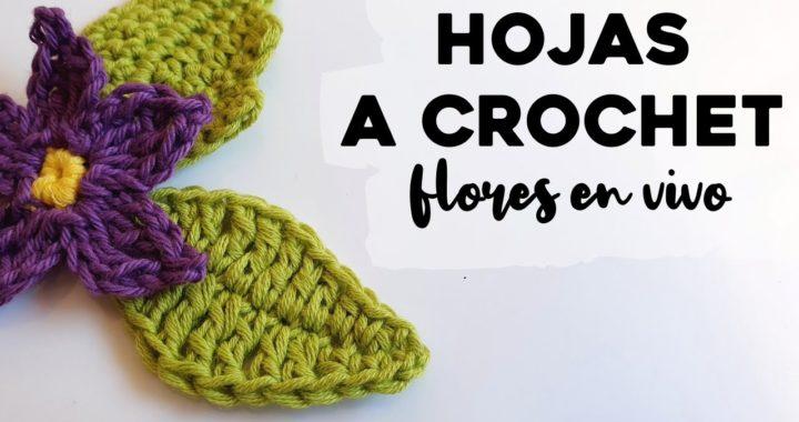 CÓMO TEJER HOJAS A CROCHET: Tutorial paso a paso de hojas de flores a crochet   Ahuyama Crochet