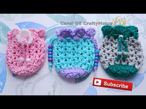 CROCHET TUTORIAL Bolsita a crochet muy fácil (Crochet Mini Pouch)