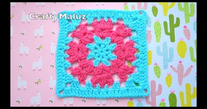 CROCHET TUTORIAL | CUADRO A CROCHET PASO A PASO | granny square a crochet | Aplicación a crochet