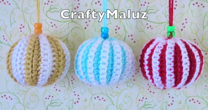 CROCHET TUTORIAL : Como hacer una Esfera a crochet en 3D (Adornos De Navidad)