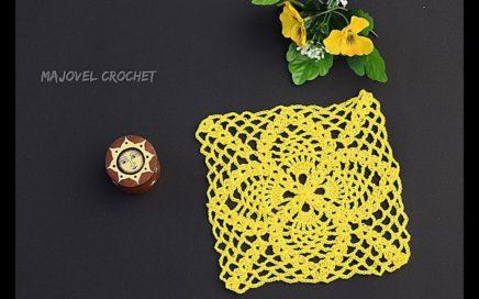 CUADRO DE PIÑAS 🍍  A CROCHET PARA MANTAS , COLCHAS Y COBIJAS CON PATRÓN #crochet #ganchillo