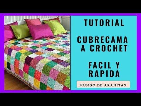 CUBRECAMA❤️ tejida de colores a crochet paso a paso | easy crochet granny bedspread