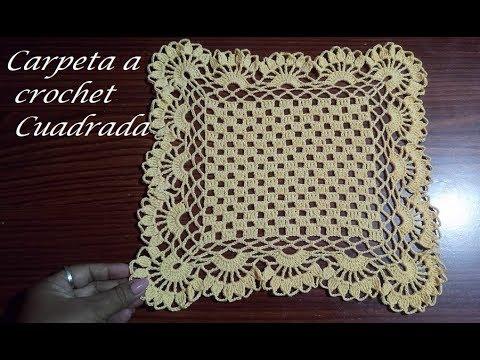 Carpeta cuadrada a crochet( Reedicion por error)