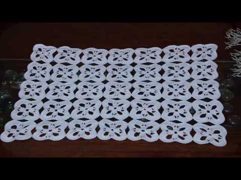 Carpeta cuadrada a crochet uniòn de motivos paso a paso