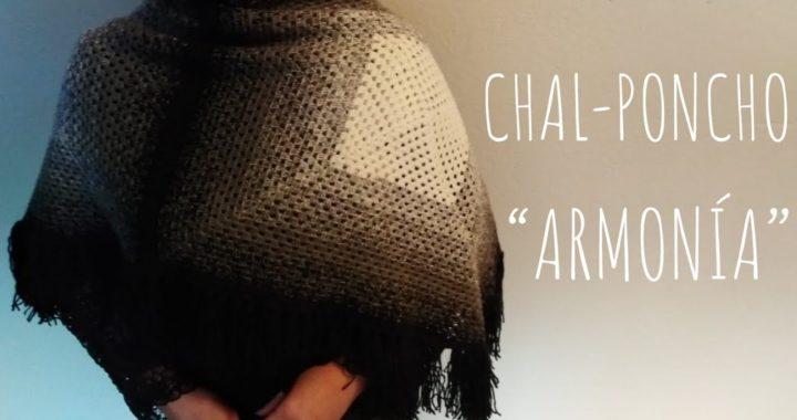"Chal - Poncho ""Armonía"" (ganchillo - crochet)"