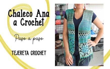 Chaleco Ana a Crochet paso a paso