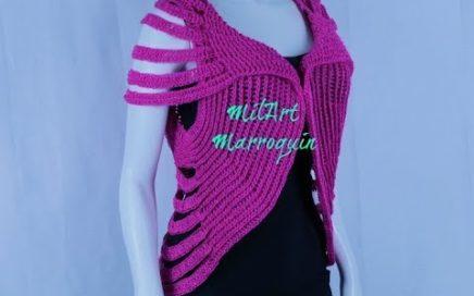 Chaleco Crochet Fácil Mediano y Todas Tallas