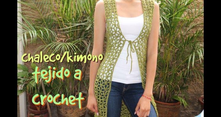 Chaleco Olivo -a crochet-