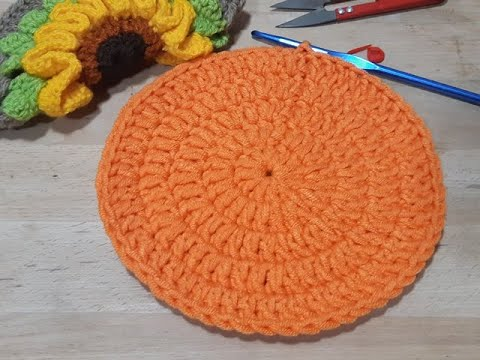 Circulo básico de puntos altos crochet