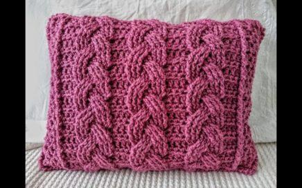 Cojín Tejido a Crochet ¡Muy fácil y paso a paso!