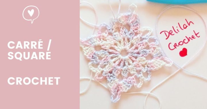 Comment faire au crochet un carré granny square | How to crochet victorian granny square easy