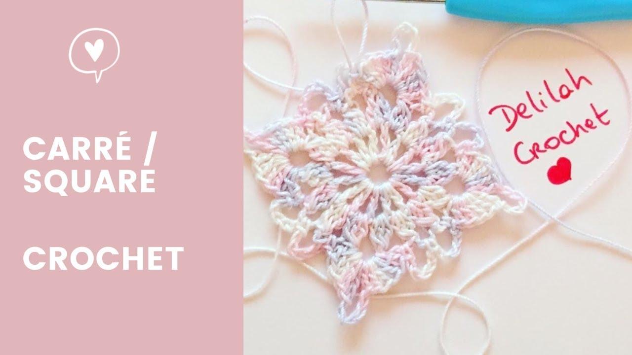Comment faire au crochet un carré granny square | How to crochet victorian granny square easy